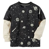 Boys 4-8 Carter's Print Mock Layer Graphic Tee