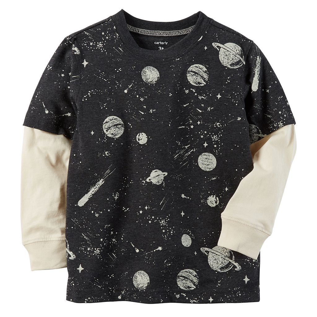 Baby Boy Carter's Print Mock Layer Graphic Tee