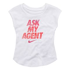 Baby Girl Nike 'Ask My Agent' Graphic Tee