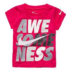 Baby Girl Nike 'Awesomeness' Graphic Tee
