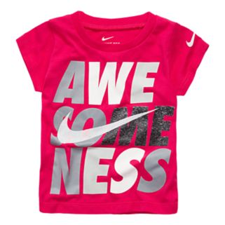 "Baby Girl Nike ""Awesomeness"" Graphic Tee"