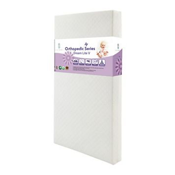 LA Baby Dream Lite V Crib Mattress with Cotton Layer & Seamless Edge