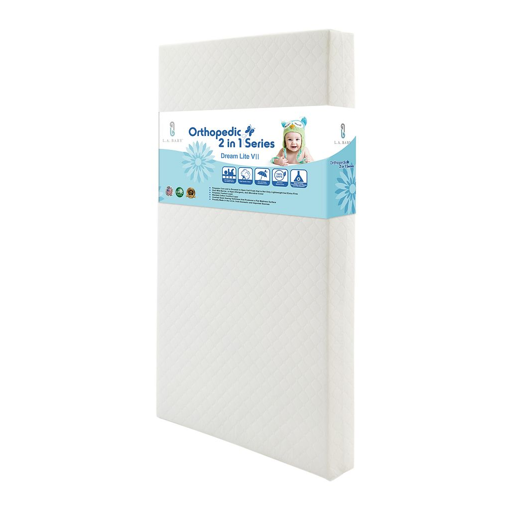 LA Baby Dream Lite VII 2-in-1 Crib Mattress with Seamless Edge