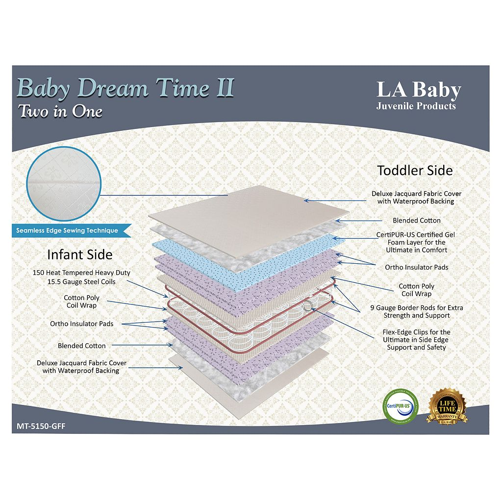 LA Baby Dream Time II Crib Mattress