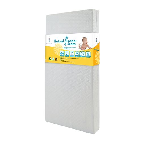 LA Baby Baby's Natural Slumber Crib Mattress with Seamless Edge