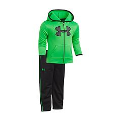 Baby Boy Under Armour Logo Hooded Jacket & Pants Set