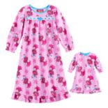 Toddler Girl DreamWorks Trolls Poppy Ruffled Nightgown & Doll Dress Set