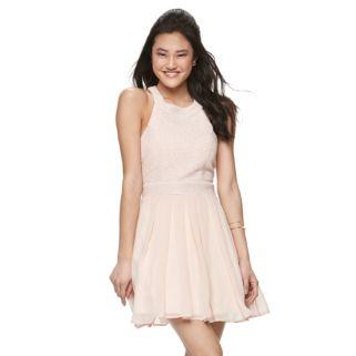 Juniors' Trixxi Glitter Crisscross Halter Dress