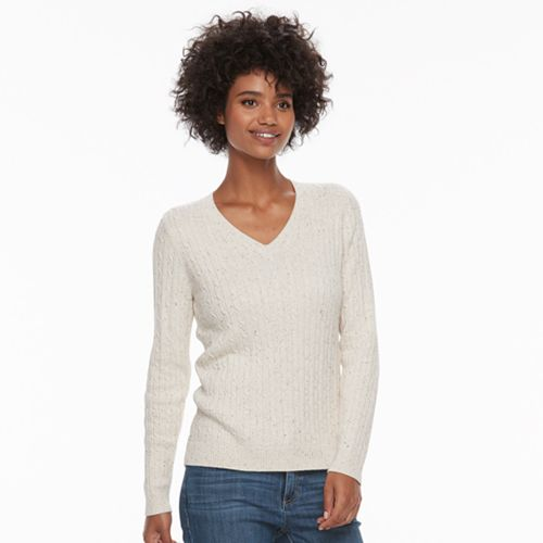 Croft Barrow Cable Knit Sweater