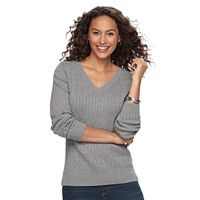 Women's Croft & Barrow® Cable-Knit Sweater