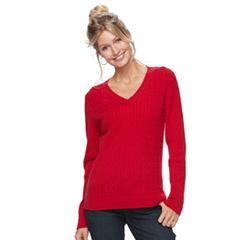Women's Croft & Barrow® Cable-Knit Sweater