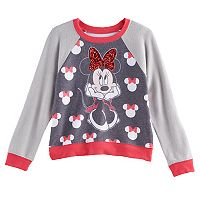 Disney's Minnie Mouse Girls 7-16 Sequin Bow Fleece Pullover