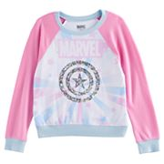 Girls 7-16 Marvel Captain America Sequin Shield Fleece Pullover
