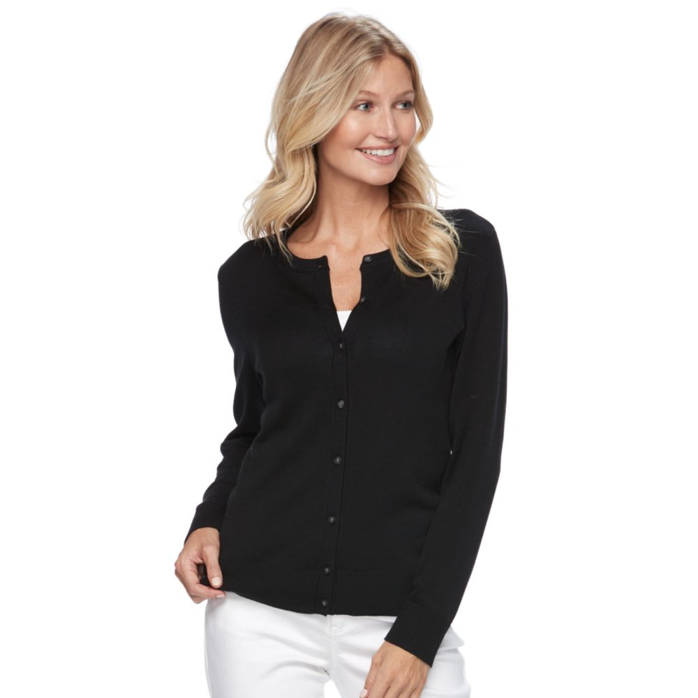 Womens Black Cardigan Sweaters - Tops, Clothing | Kohl's