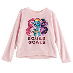 Girls 7-16 My Little Pony Pinkie Pie, Rainbow Dash & Twilight Sparkle Sequin 'Squad Goals' Fleece Pullover