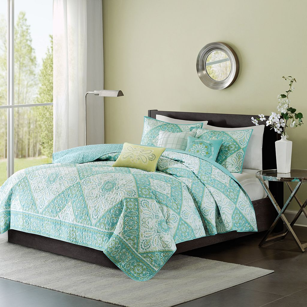 Madison Park 6-piece Miranda Quilted Coverlet Set