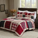 Woolrich 3 pc Huntington Plaid Quilt Set