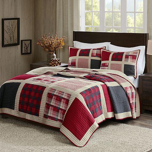Woolrich 3 Piece Huntington Plaid Quilt Set