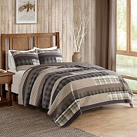 Woolrich 3-piece Winter Plains Plaid Quilt Set