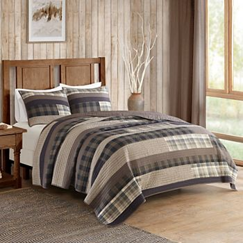 Woolrich 3-piece Winter Plains Plaid Quilt Set : woolrich quilted blanket - Adamdwight.com