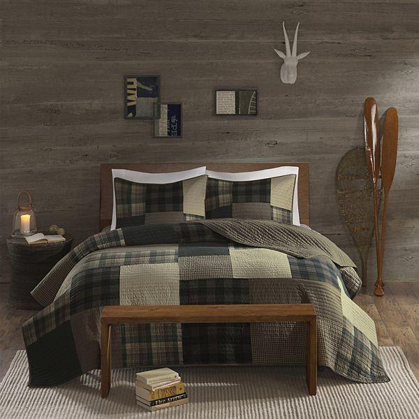 Woolrich 3 Piece Winter Hills Plaid Quilt Set