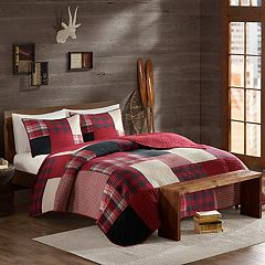 Woolrich 3 pc Sunset Plaid Quilt Set