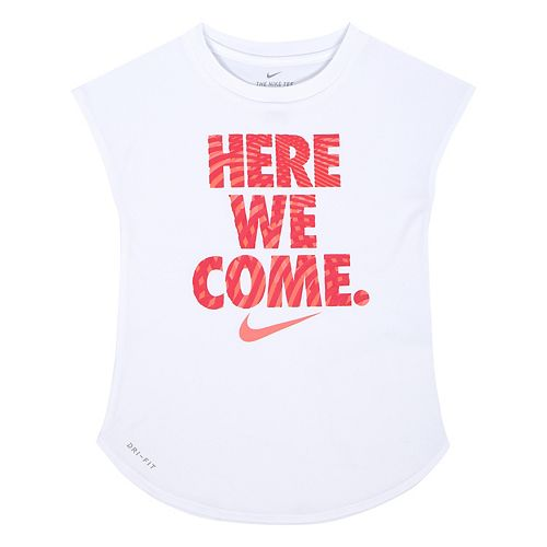 "Girls 4-6x Nike Dri-FIT ""Here We Come"" Tee"