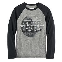 Boys 8-20 Star Wars Death Star Raglan Tee