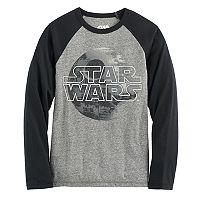 Boys 8-20 Star Wars Death Star Raglan Tee