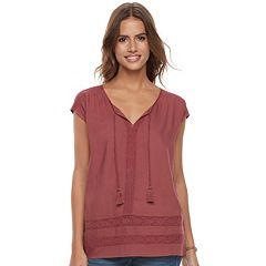 Women's SONOMA Goods for Life™ Lace Tassel Tee