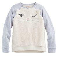 Girls 4-10 Jumping Beans® Animal Plush Pullover
