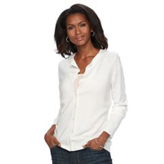 Womens White Cardigan Sweaters - Tops, Clothing | Kohl's