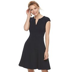 Petite Suite 7 Textured Fit & Flare Dress