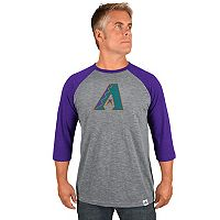 Men's Majestic Arizona Diamondbacks Cooperstown Raglan Tee