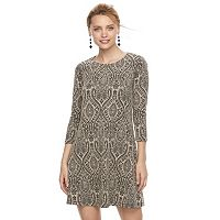 Petite Suite 7 Scroll Print Shift Dress