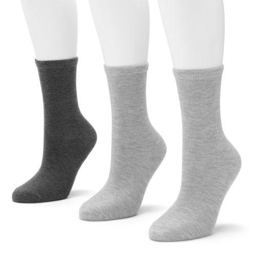 SONOMA life + style® 3-pk. Heather Crew Socks