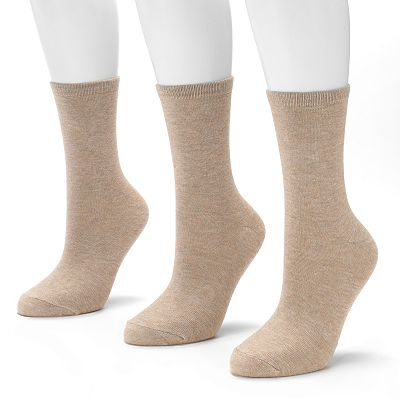 SONOMA life + style 3-pk. Heather Crew Socks