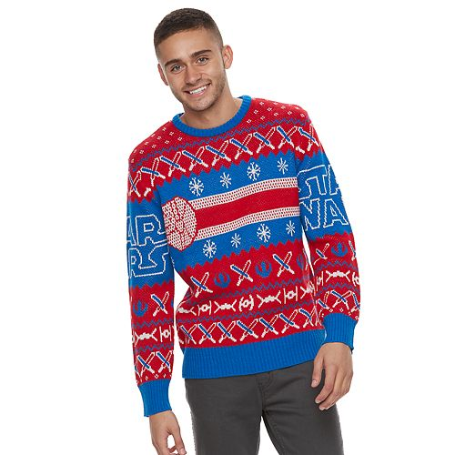 Kohl Ugly Christmas Sweaters.Men S Star Wars Lightsaber Ugly Christmas Sweater