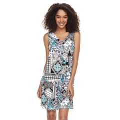 Women's Nina Leonard Print Trapeze Dress