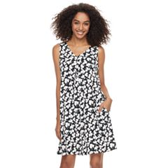 Women's Nina Leonard Print Trapeze Dress