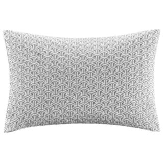 Madison Park Signature Basket Weave Embroidered Oblong Throw Pillow