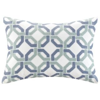 Madison Park Signature Concord Lattice Embroidered Oblong Throw Pillow