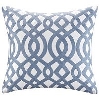 Madison Park Signature Trellis Embroidered Throw Pillow