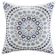 Madison Park Signature Grace Medallion Embroidered Throw Pillow