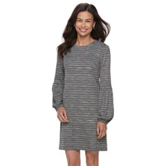 Petite Suite 7 Metallic Striped Shift Dress