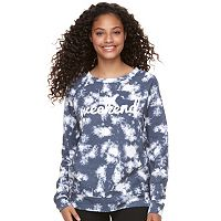 Juniors' Grayson Threads Tie Dye Graphic Sweatshirt