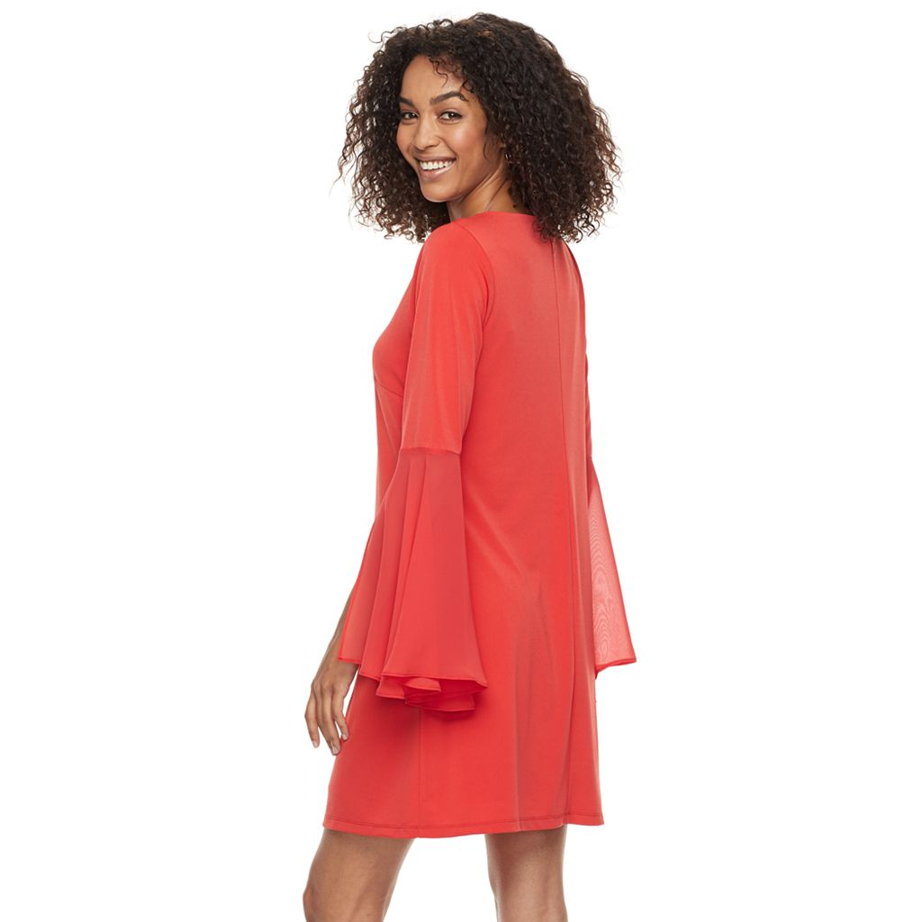 Women's Nina Leonard Sheath Crepe Dress