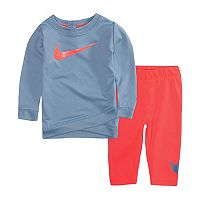 Baby Girl Nike Dri-FIT Crossover Hem Tunic & Leggings Set