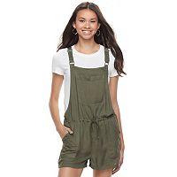Juniors' SO® Pocket Front Romper