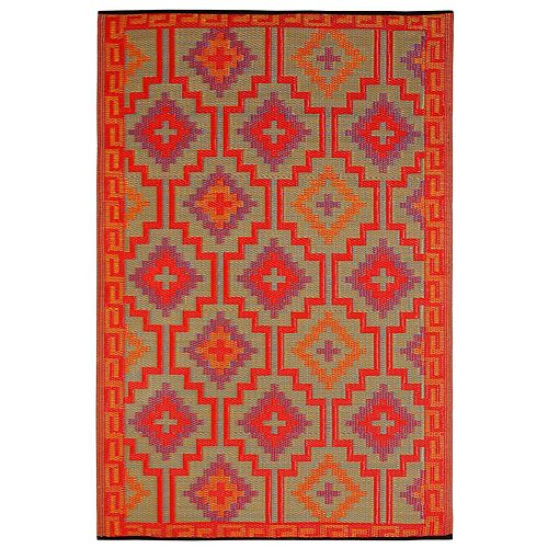 Fab Habitat World Lhasa Geometric Reversible Indoor Outdoor Rug